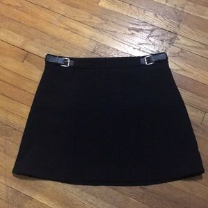 Express Black Mini Skirt Size 0 with Buckles